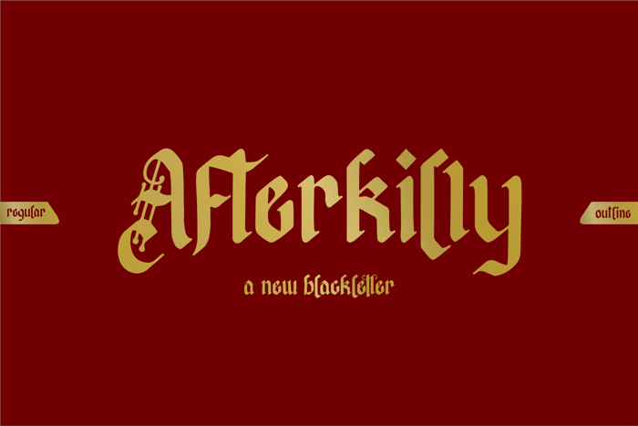Afterkilly Font poster