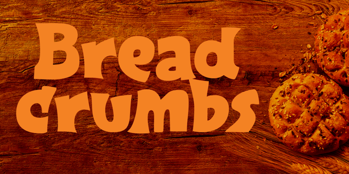 Breadcrumbs Font poster