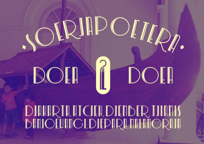 Soerjapoetera Doea Font poster