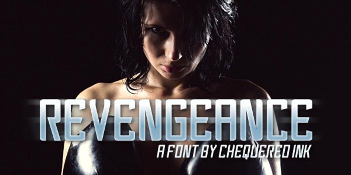 Revengeance Font poster