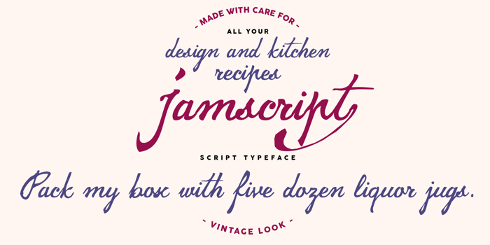 jamscript Font poster