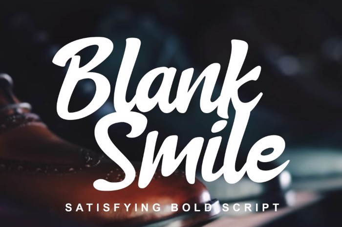 Blank Smile Font poster