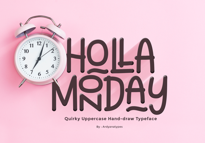 Holla Monday Font poster