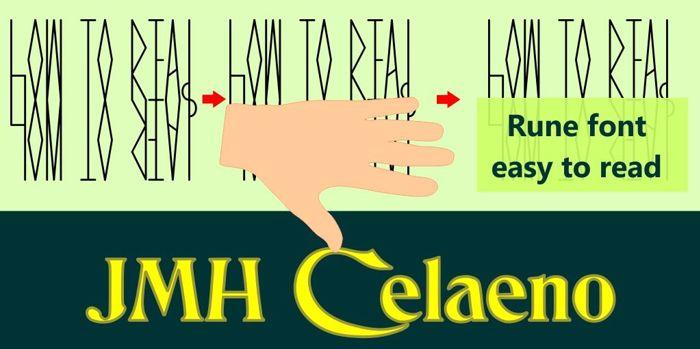 JMH Celaeno Book Font poster