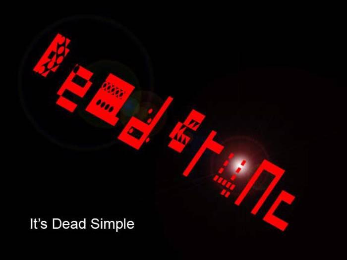 Dead Crunc Font poster
