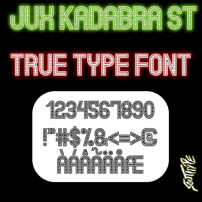 Jux Kadabra St Font poster