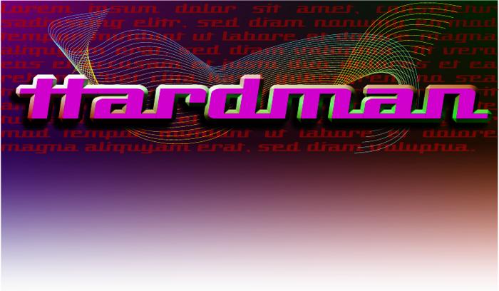 Hardman Font poster