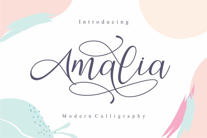 Amalia Font poster