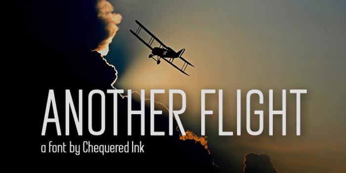 Another Flight Font poster