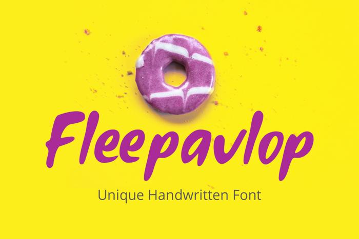 Fleepavlop Font poster