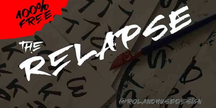 RElapse Font poster