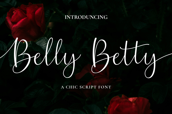 Belly Betty Font poster