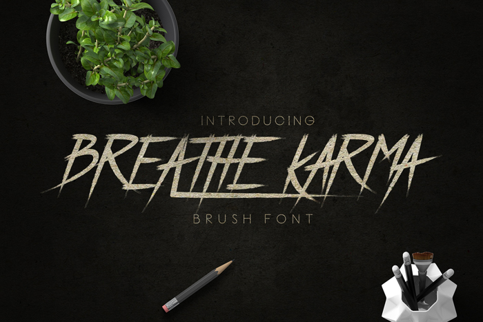 Breathe Karma Font poster