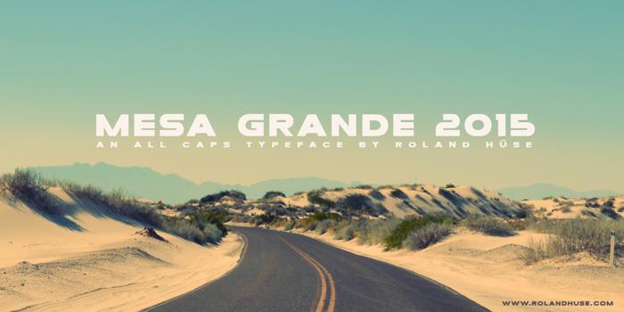 Mesa Grande Font poster