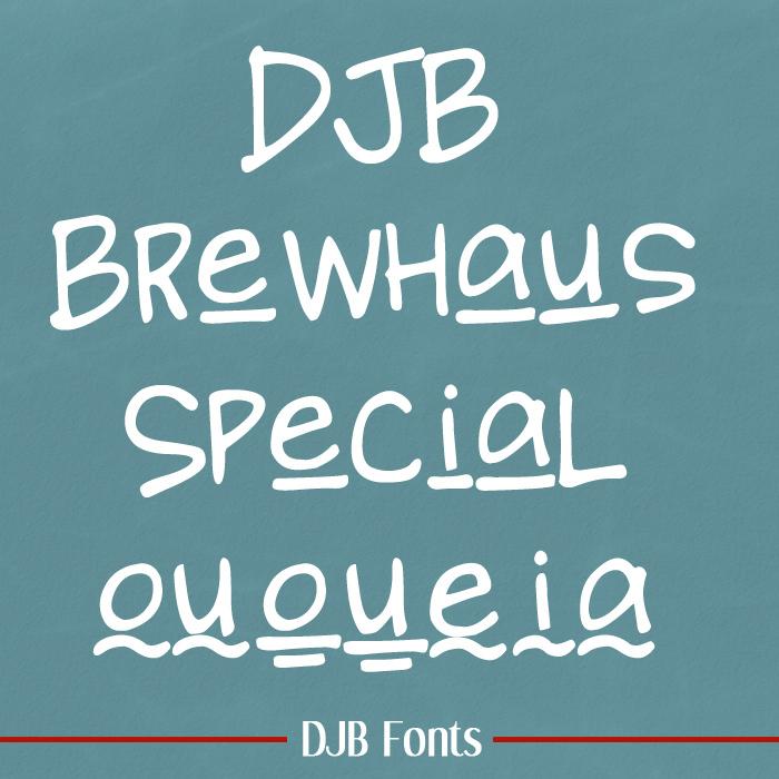DJB BREWHAUS SPECIAL Font poster