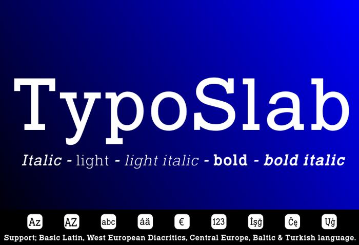 Typo Slab Font poster