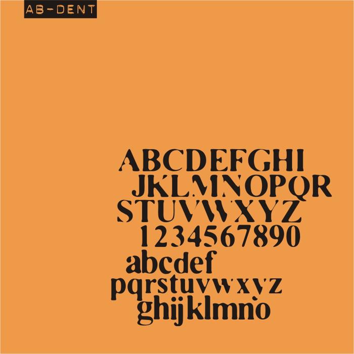 AB Dent Font poster