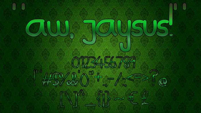 Aw, Jaysus! Font poster