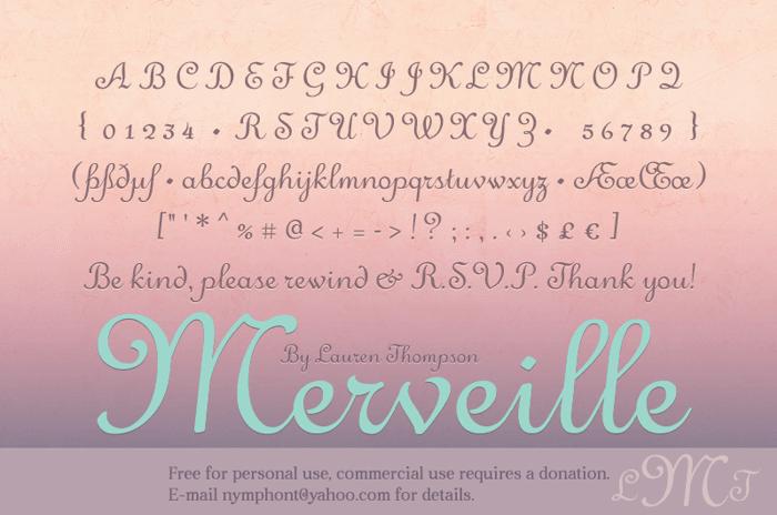 Merveille Font poster