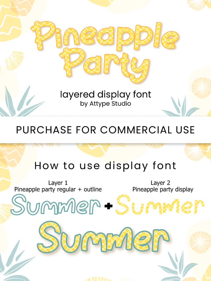 Pineapple Party Font poster