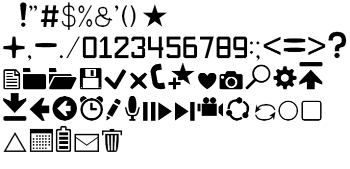 Software Kit 7 Font poster