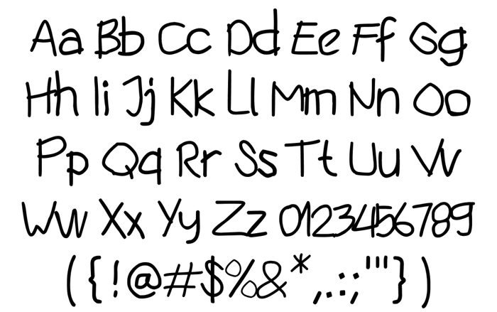 silly bug Font poster