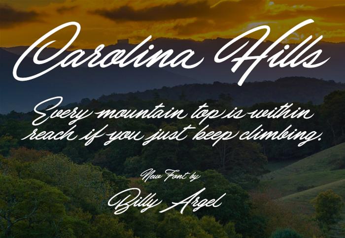 Carolina Hills Font poster