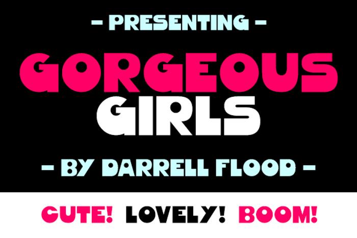 Gorgeous Girls Font poster