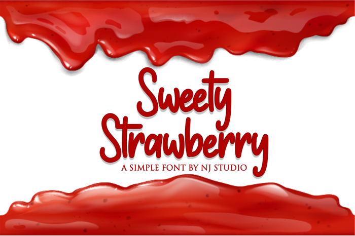 Sweety Strawberry Font poster