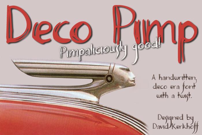 Deco Pimp Font poster