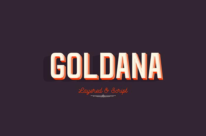 Goldana Base Font poster