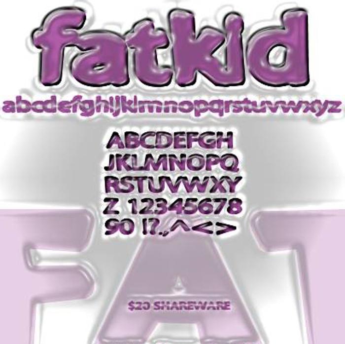 Fatkid Font poster
