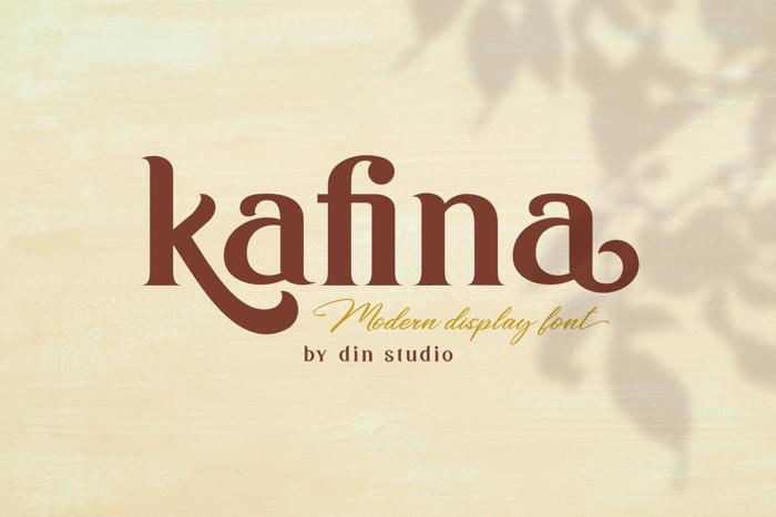 Kafina Font poster