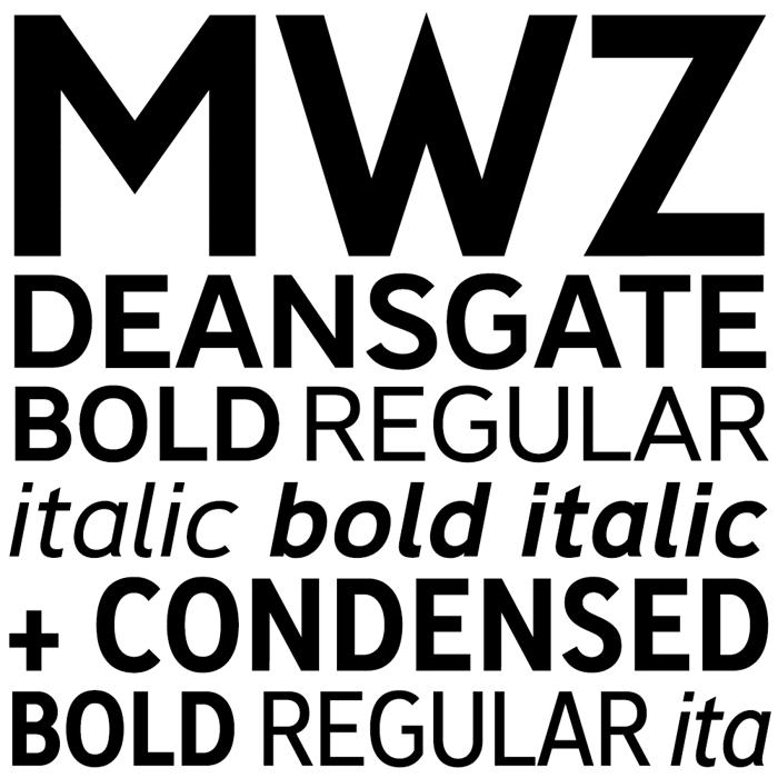 Deansgate Condensed Font poster