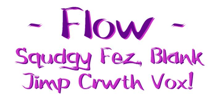Flow Font poster