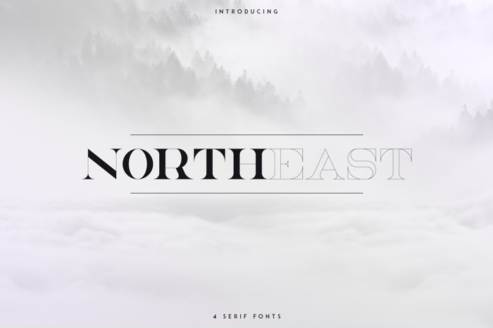 NorthEast Font poster