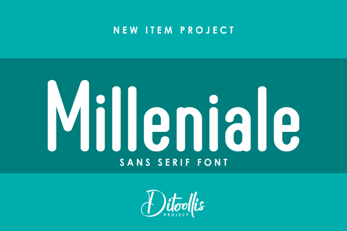 Milleniale Font poster
