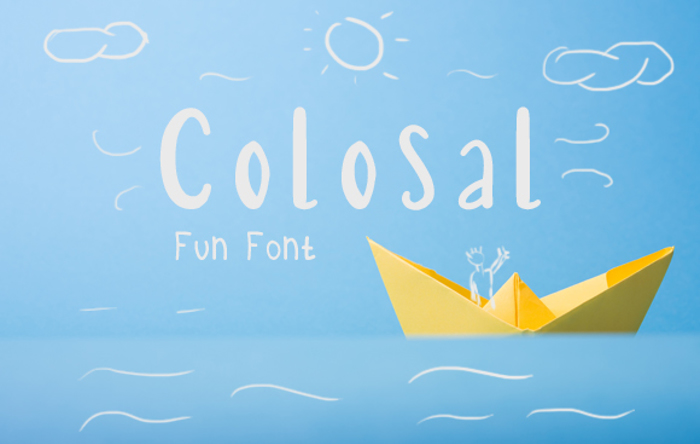 Colosal Font poster