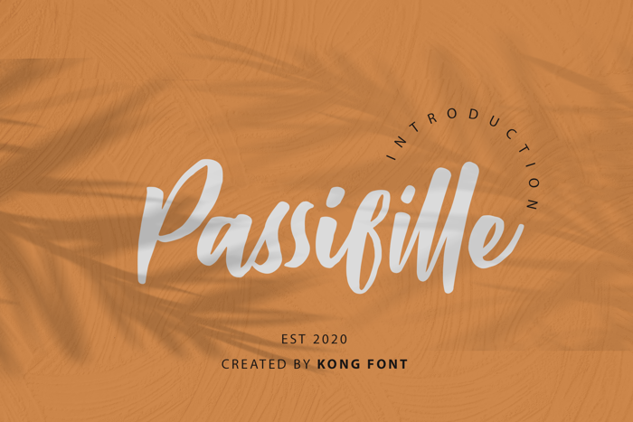 Passifille Font poster