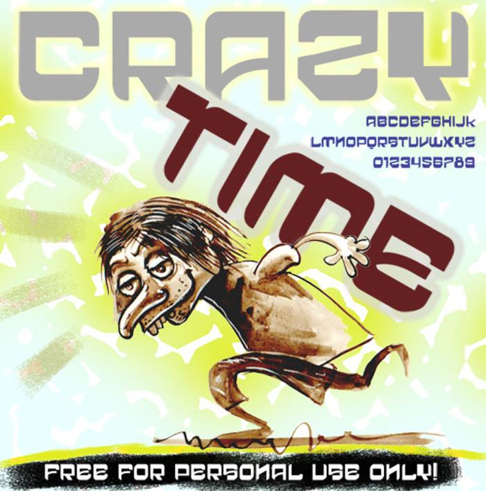 vtks crazy time Font poster