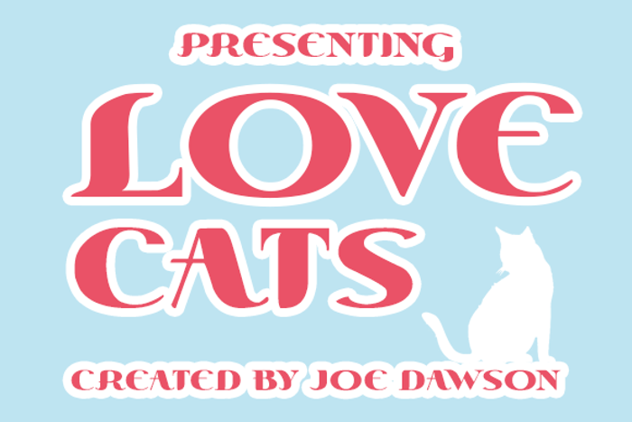 Love Cats Font poster