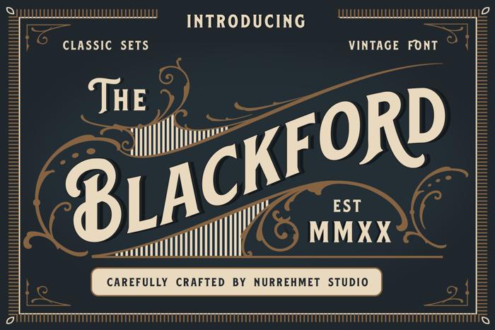 Blackford Font poster