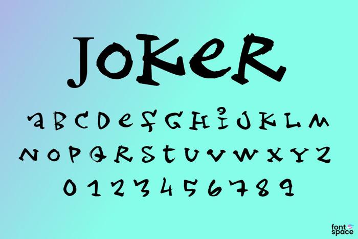 Joker Font poster