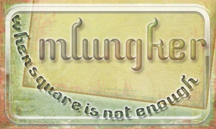 Mlungker Font poster