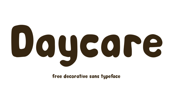Day Care Font poster