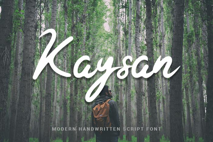 Kaysan Signature Font