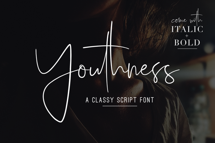 Youthness Font poster