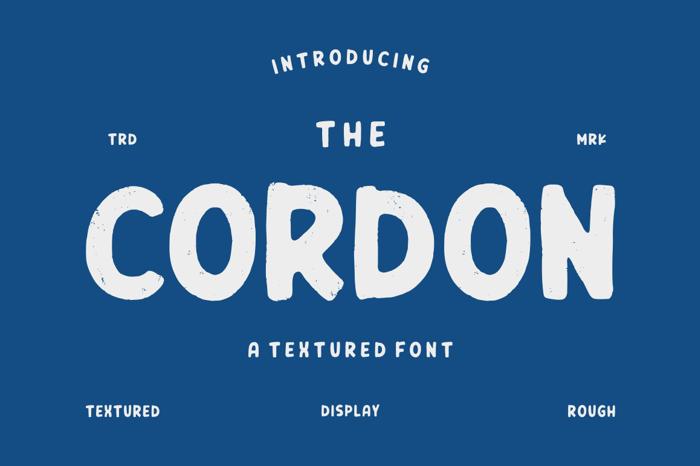 CORDON Font poster
