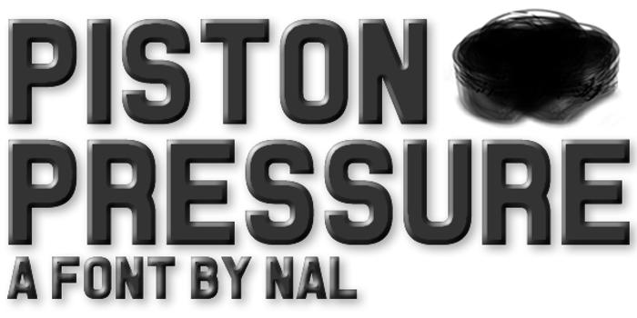 Piston Pressure Font poster