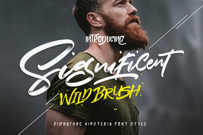 Significent Font poster
